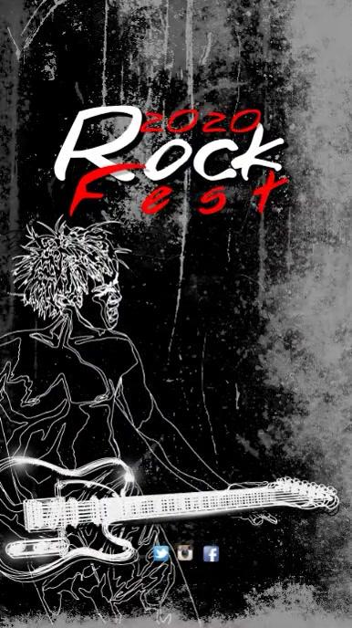 Rock Fest Video Template Digital na Display (9:16)