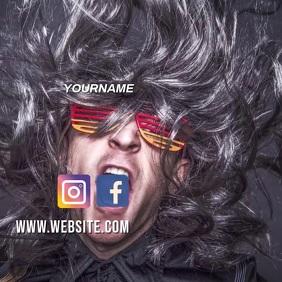 ROCK FESTIVAL AD SOCIAL MEDIA TEMPLATE Message Instagram