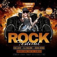 Rock Festival Publicação no Instagram template