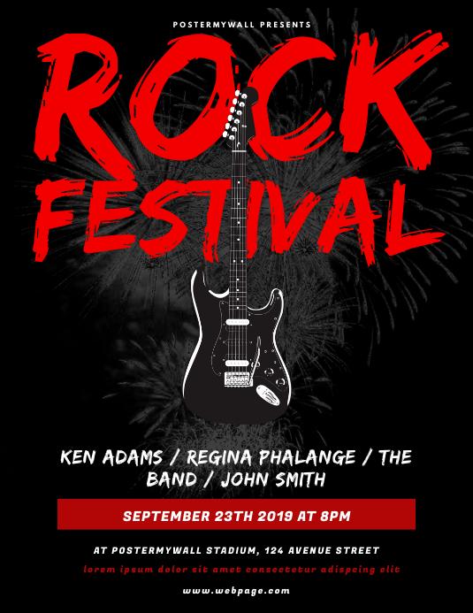Rock Festival Flyer Design Template