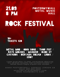 Rock Festival Music Event Flyer Template