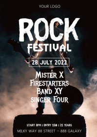 Rock Festival music event Party Concert Band A4 template
