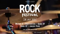 Rock Festival music event Party Concert Band Facebook Cover Video (16:9) template