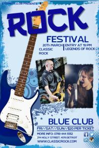 Rock festival Poster Template