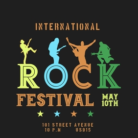 ROCK FESTIVAL TEMPLATE Instagram Post