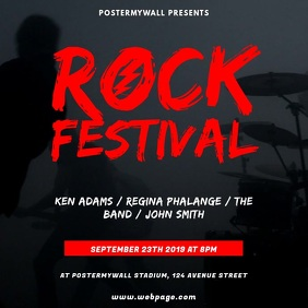 Rock Festival Video Design Template