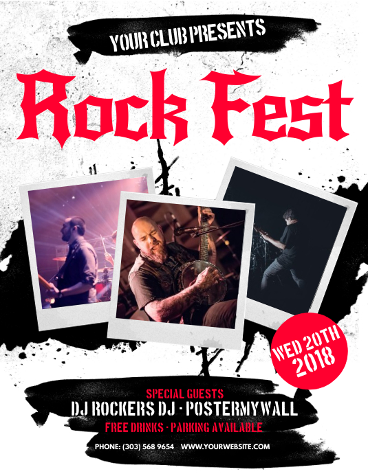 Rock Fest Flyer Template | PosterMyWall
