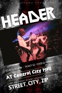 Rock Heavy Metal Concert Band Flyer Template