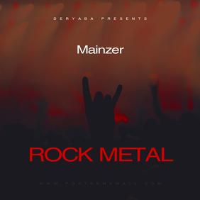 Rock Metal CD Cover Art Template