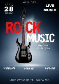 Rock Music Concert Band Guitar Stage Lights