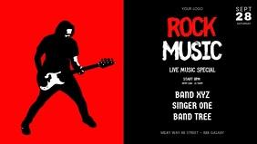 Rock Music Concert Band Guitar Video Event A