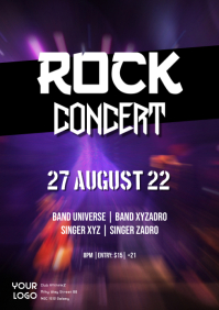 Rock Music Concert event Party Flyer Band Ad A4 template