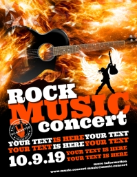 ROCK MUSIC CONCERT FLYER