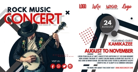 Rock Music Concert Gig Facebook Post Image