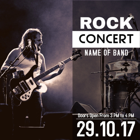 Rock music concert template