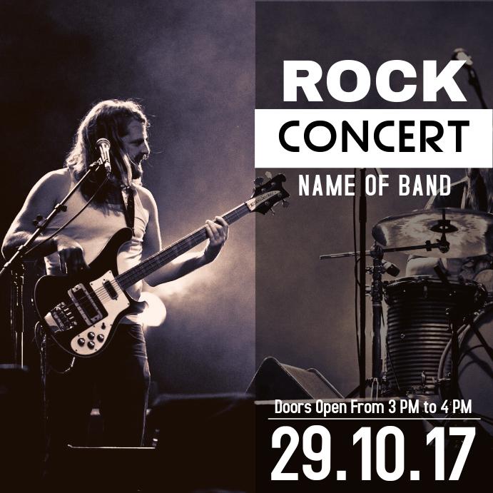 Rock music concert template
