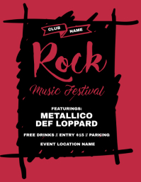 Rock Music Festival Flyer
