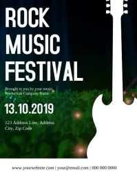 Rock Music Festival Flyer Template