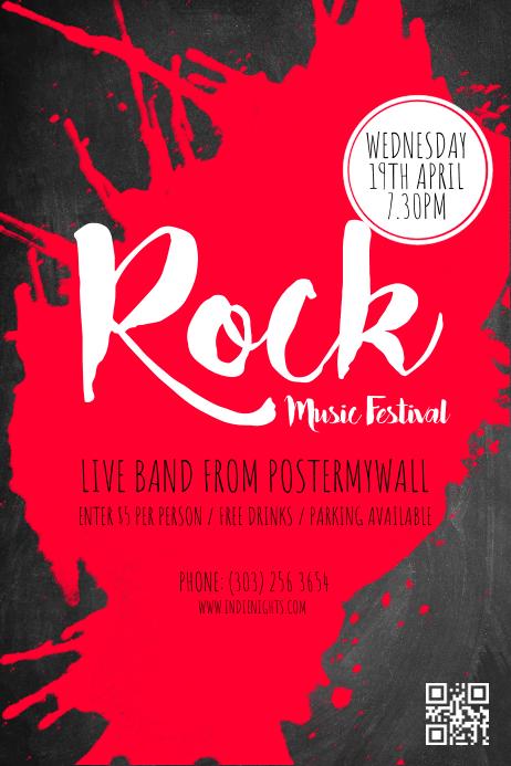 3c47143311f72 Plantilla de Cartel de Festival de Música Rock de