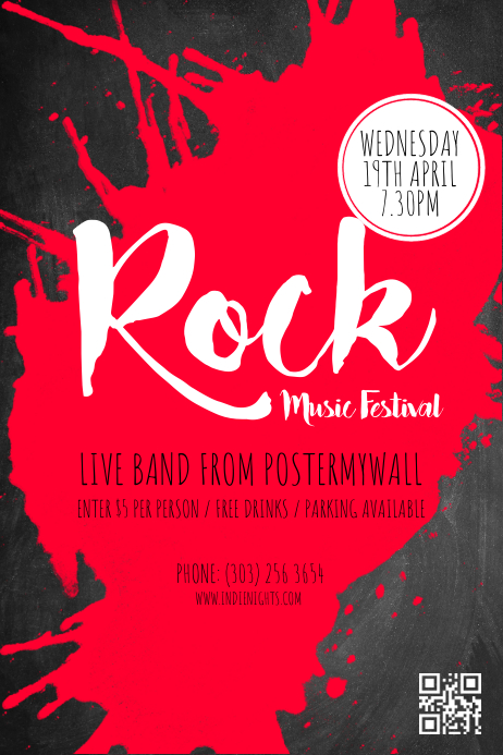 Rock Music Festival Poster Template   PosterMyWall