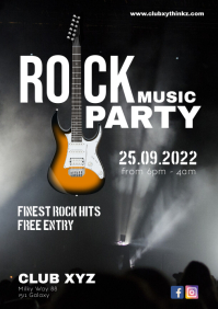 Rock Music Party Event Concert Live Band Ad