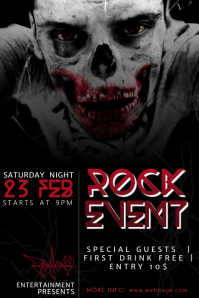 Rock Music Flyer Template