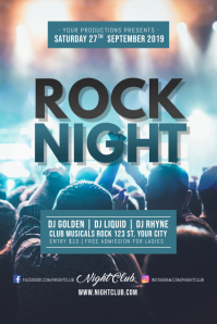 Rock Night Concert Poster