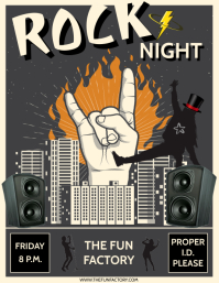 ROCK NIGHT Flyer (US Letter) template