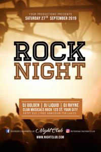 Rock Night Music Concert Poster