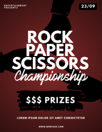 Rock Paper Scissors Contest Flyer Design