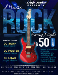 rock party night Flyer (US Letter) template