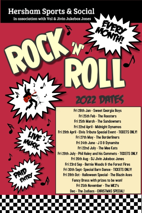 rock n roll poster template postermywall