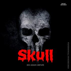 Rock Skull Album Cover Design Template