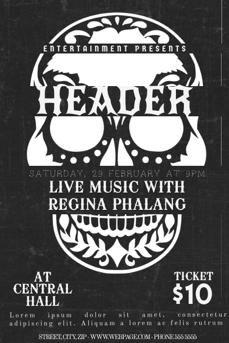 Rock Skull Flyer Template