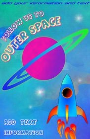 rocket ship - follow us to outer space