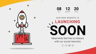 Rocket Themed Launching Soon Facebook Cover V Facebook-covervideo (16:9) template