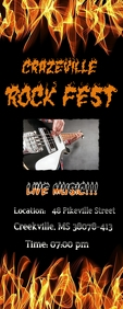 Rockfest Cartel enrollable de 2 × 5 pulg. template