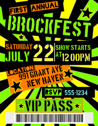 Customizable Design Templates for Backstage Passes | PosterMyWall