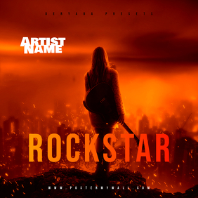 Rockstar CD Cover template