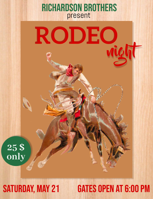 rodeo, rodeo night Flyer (US Letter) template