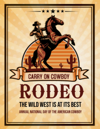 Rodeo,event,cowboy Flyer (Letter pang-US) template