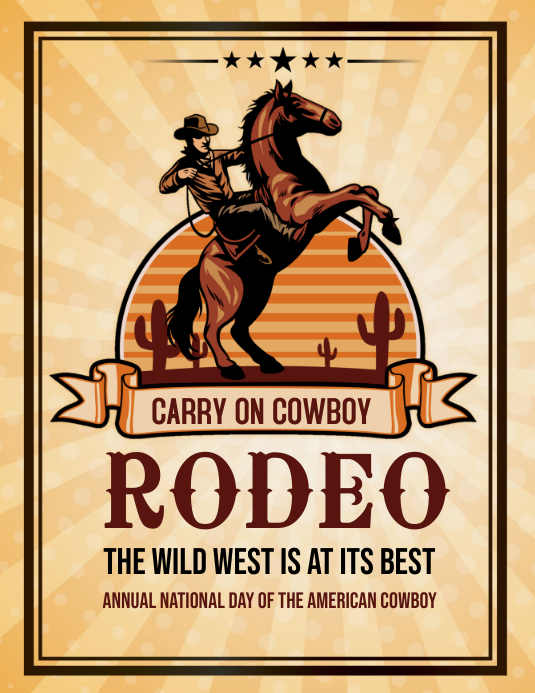 Rodeo,event,cowboy Folheto (US Letter) template