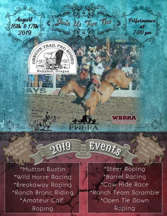 Rodeo 2019 Folheto (US Letter) template