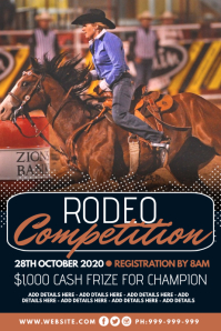 Rodeo Competition Poster