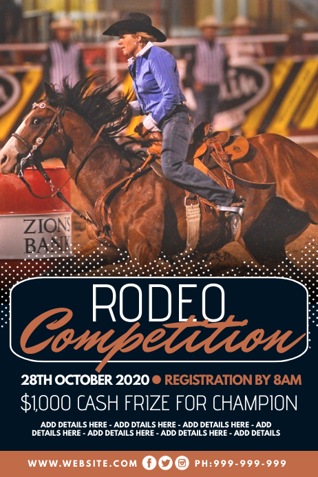 Rodeo Competition Poster template
