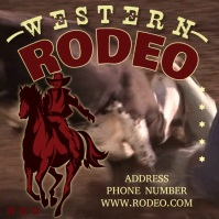 Rodeo Pos Instagram template