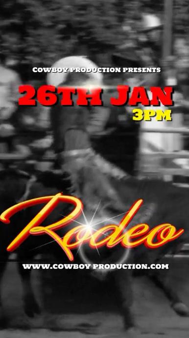 Rodeo event Adsvert Instagram-verhaal template
