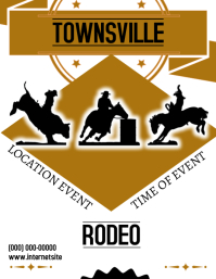 Rodeo Event Flyer