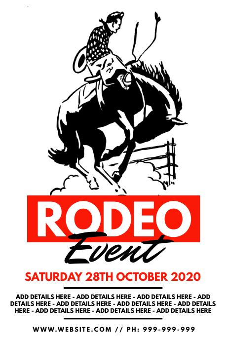 Rodeo Event Poster Cartaz template