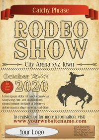Rodeo Flyer show template parchment